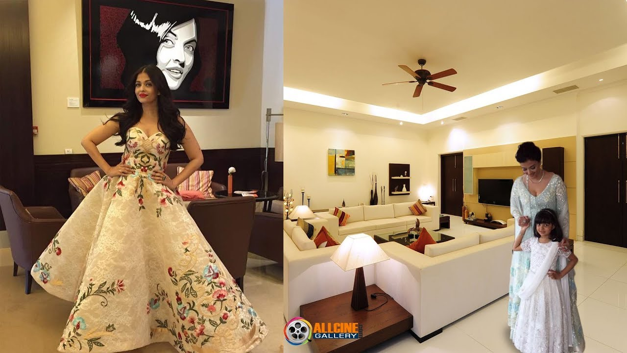 Aishwarya Rai Bachchan House Inside Room U0026 Outside View Photos With Family  Members