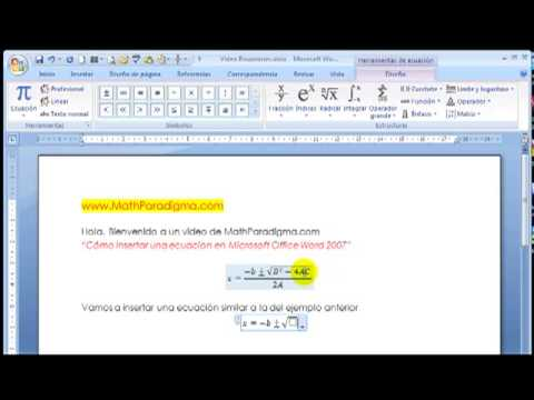 Ecuaciones Algebraicas Como Escribir Ecuaciones En Microsoft Word