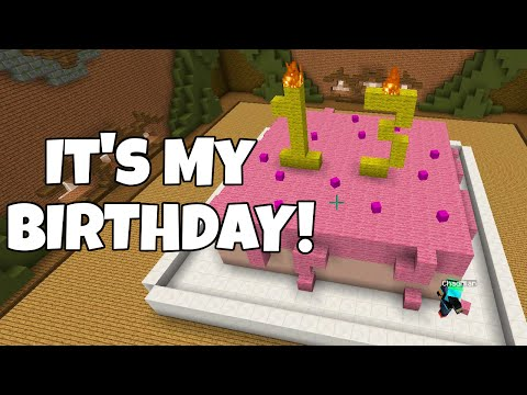 MINECRAFT BUILD BATTLE | MY 13th BIRTHDAY CAKE! | RADIOJH AUDREY & GAMER CHAD