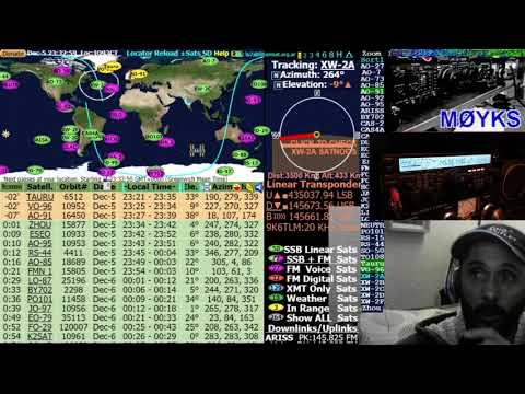 AO-91 Satellite - Late Evening Pass Over EU