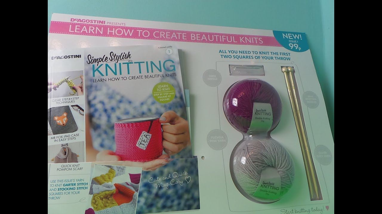 deagostini simple stylish knitting learn how to knit beautiful things youtube. Black Bedroom Furniture Sets. Home Design Ideas