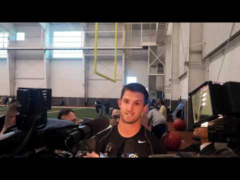 Nate Peterman interview at Pitt Pro Day