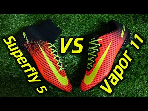 Nike Mercurial Superfly 5 vs Vapor 11