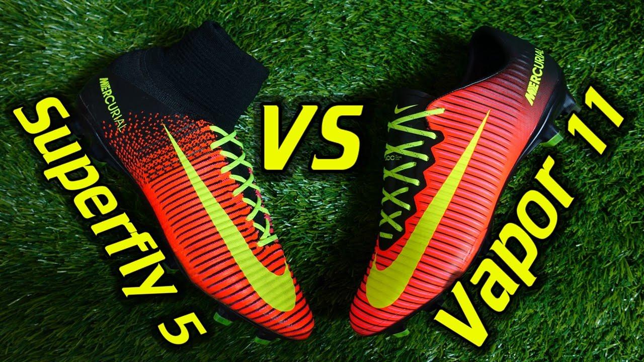 wholesale dealer da941 b9018 Nike Mercurial Superfly 5 vs Vapor 11