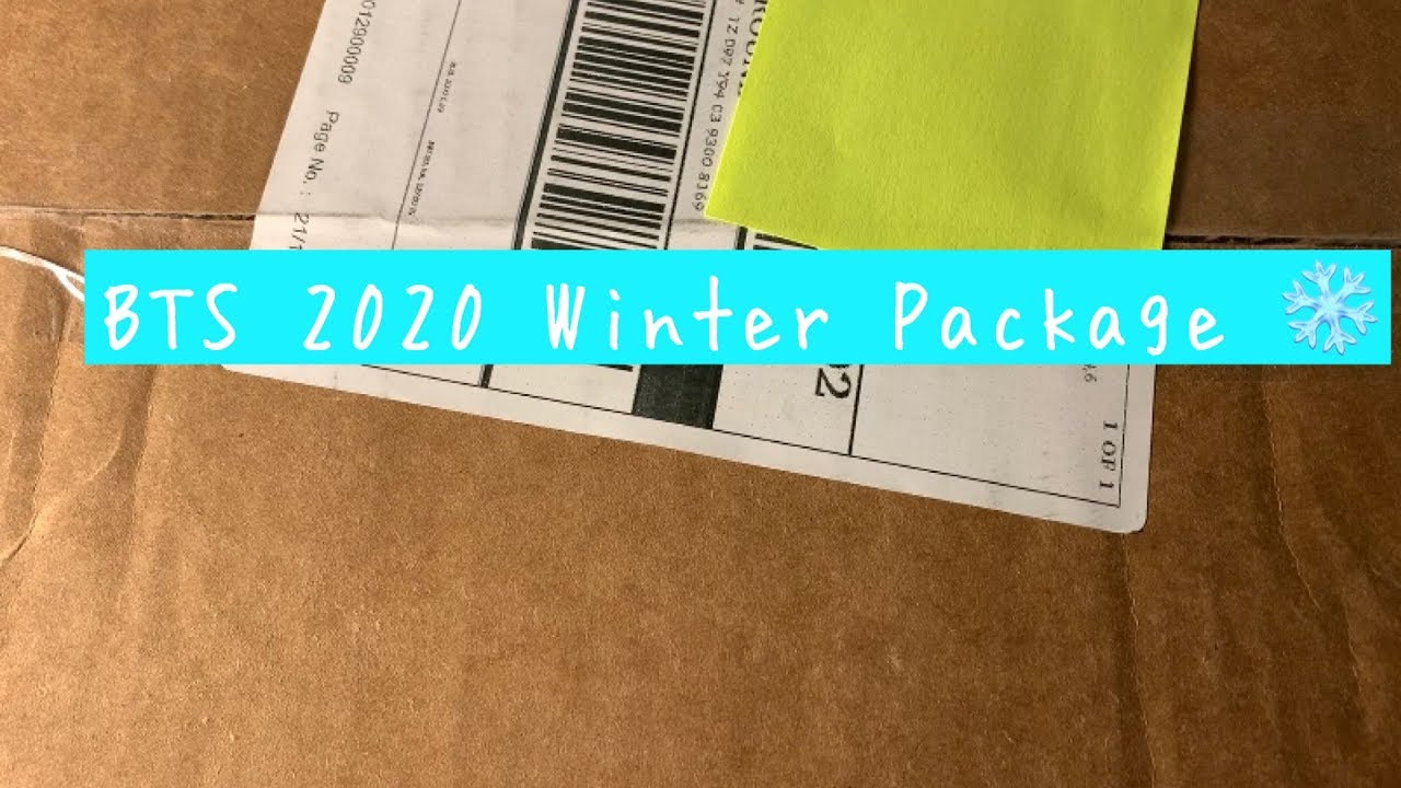 unboxing BTS' 2020 Winter Package!!! it's so pretty