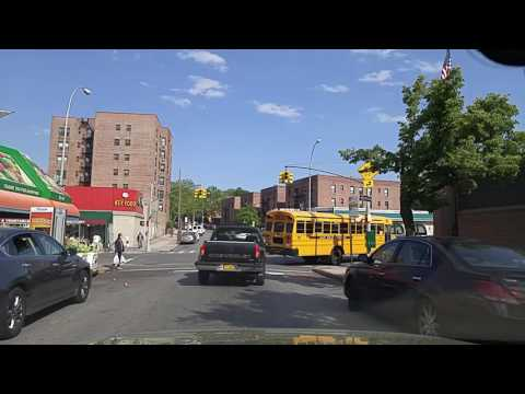 Driving by Rego Park Queens,New York