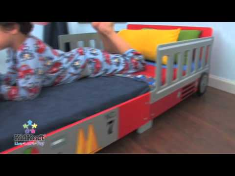 kidkraft fire truck toddler bed at boohoobaby