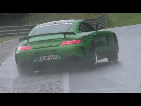 Mercedes AMG GT R Drifting on the Nürburgring!