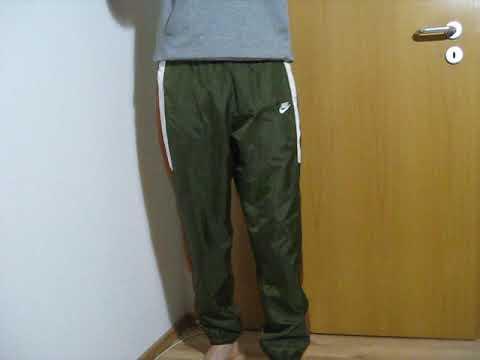 Nike boy cal surf Nylon Polyamid glänzende Jogginghose sweatpants Track Pants 尼龙运动裤 (2)