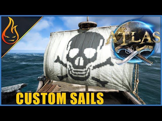 Atlas MMO How To Make Custom Sails