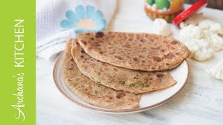 Gobi Ka Paratha Recipe - Indian Vegetarian by Archanas Kitchen
