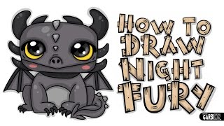 How To Draw Night Fury By Garbi Kw