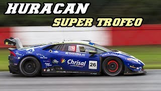 Lamborghini Huracan Super Trofeo - Flames and hot brakes (24h Zolder 2017)