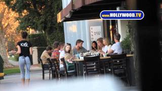 Chris, Liam Hemsworth Eat at Toast