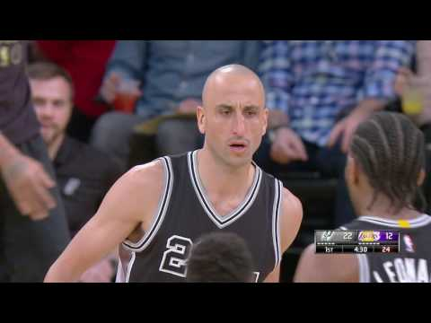 San Antonio Spurs vs Los Angeles Lakers | February 26, 2017 | NBA 2016-17 Season