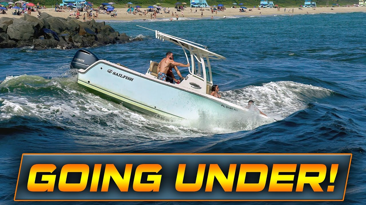 BOATS CROSS THE MOST DANGEROUS INLET IN FLORIDA !! | Boats at Haulover Inlet