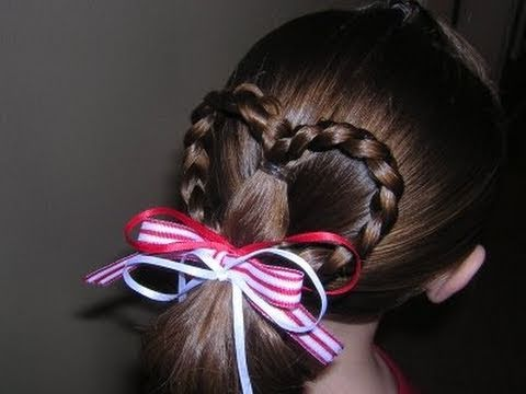 Heart Ponytail Hairstyle Youtube