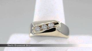 14k Yellow Gold Mens Cocktail Diamond Ring Band