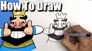 How To Draw the Thumbs Up King from Clash Royale- EASY Chibi - Step By Step - Kawaii