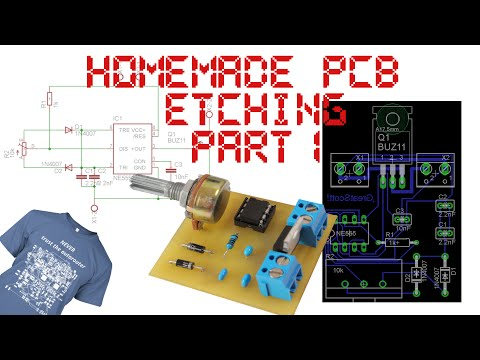 Homemade PCB Etching (through hole parts) - Part 1