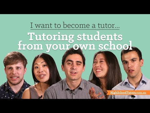 I want to become a tutor: Same school students