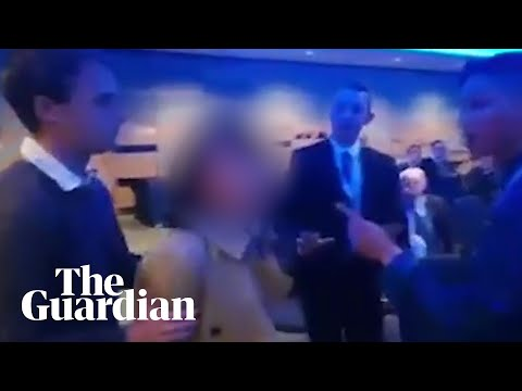 Chinese TV reporter 'slaps delegate at Tory conference'