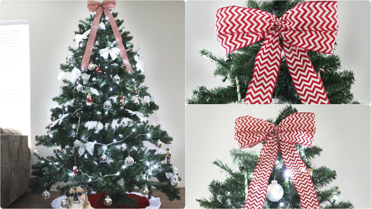 how to make christmas bow tree topper