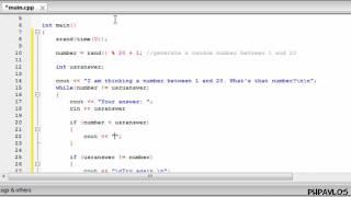 كيفية إنشاء لعبة تخمين في C++