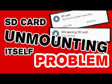 SD CARD unmounting and remounting itself problem (SOLVED)