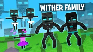 UNBEATABLE WITHER FAMILY - MINECRAFT ANIMATION