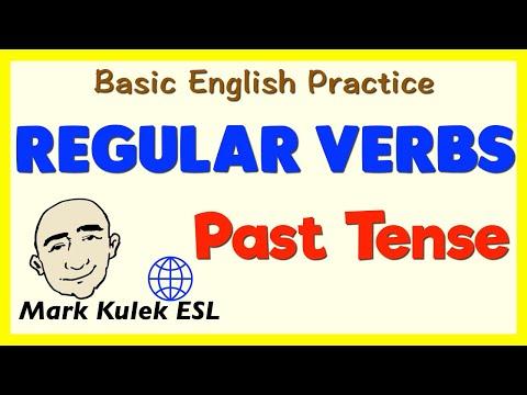 Regular Verbs | Past Tense | English Speaking Practice | ESL | EFL