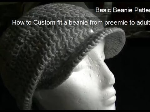 How To Crochet A Brimpeak Onto A Beanie Youtube