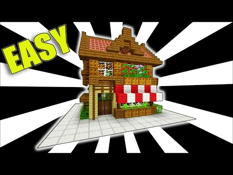 Minecraft: How To Make a Shop!! ( Easy Starter House Tutorial )