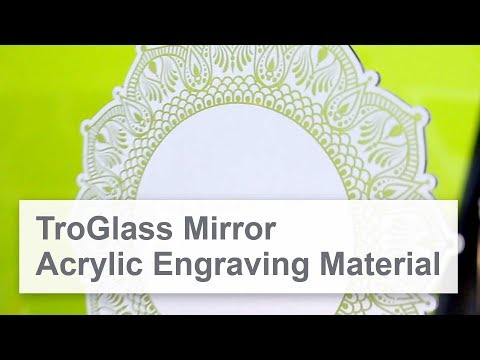 TroGlass Mirror | Acrylic Sheet Engraving Material With Mirror Surface