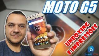 Moto G5 - Novo Design e Preço Campeão! Unboxing e Impressões (Em Português)