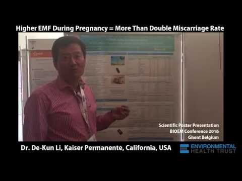 Dr. De-Kun Li: Higher EMF During Pregnancy More Than Double Miscarriage Rate