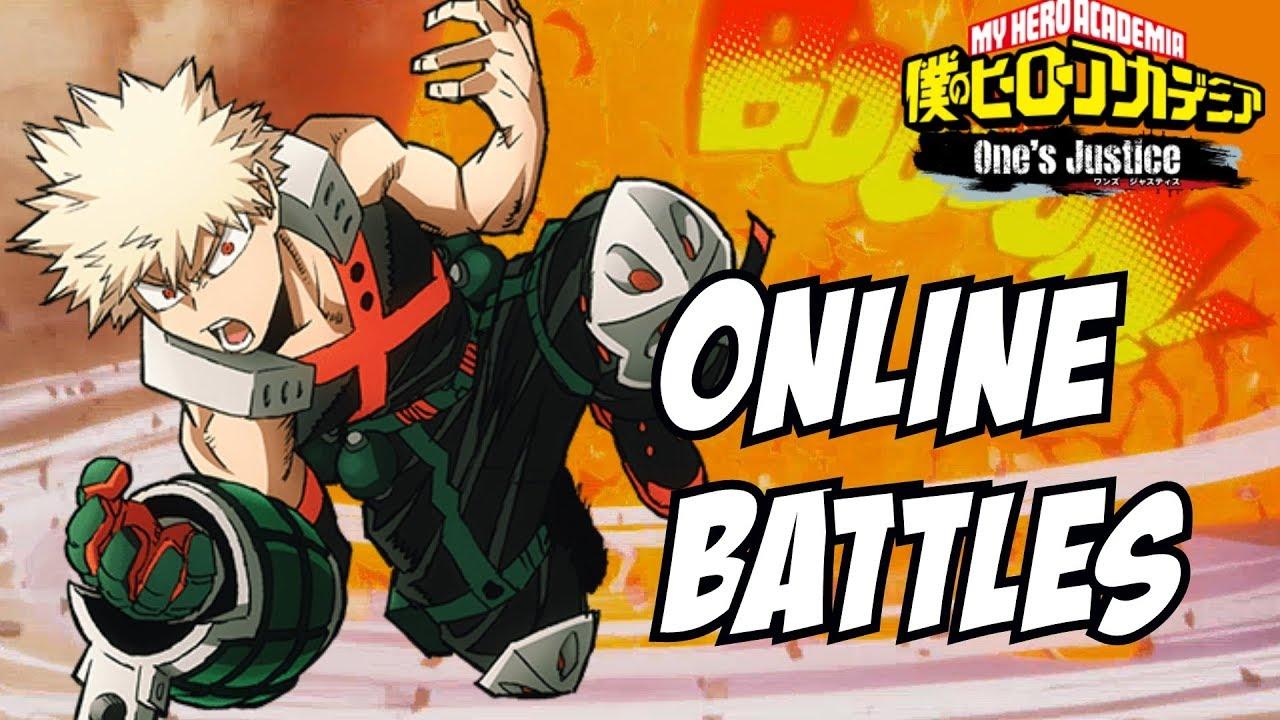 my hero academia one s justice bakugou online angry battles youtube