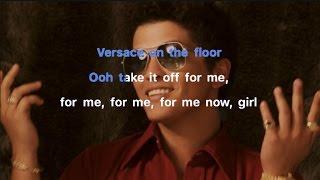 Bruno Mars - Versace on The Floor Karaoke