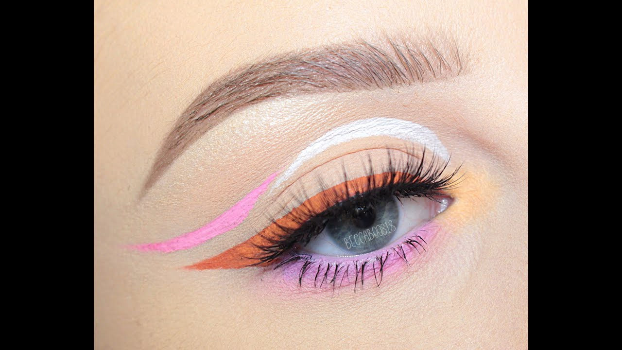 Spring Inspired Graphic Liner Ft Nyx Vivid Brights