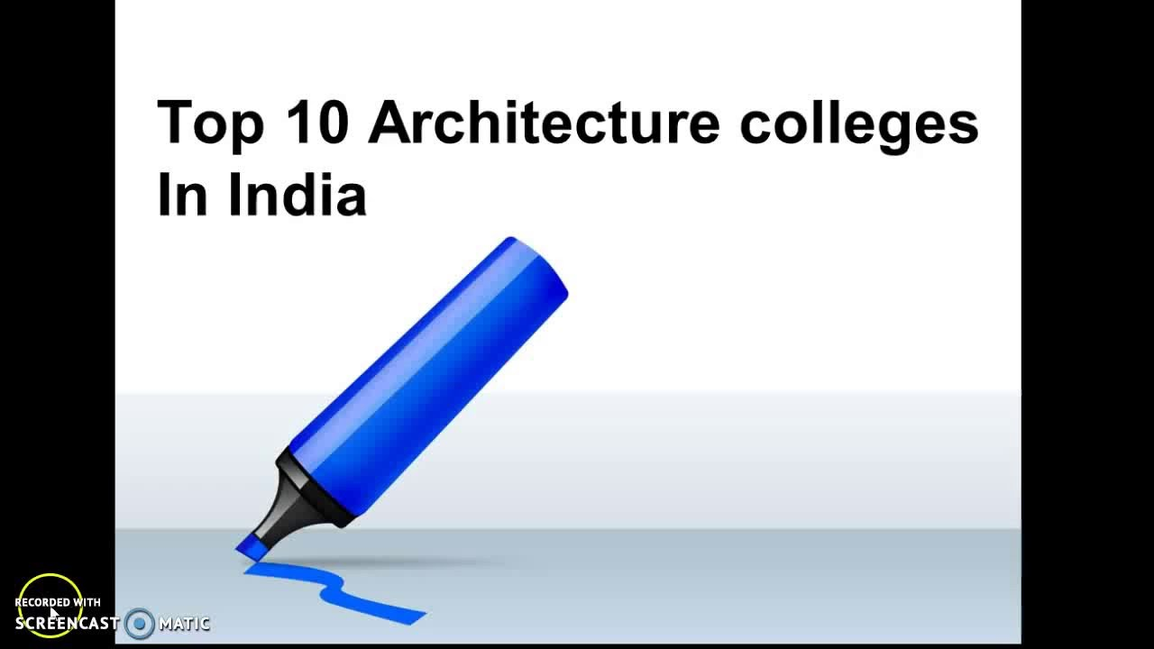 top 10 architecture colleges in india - youtube