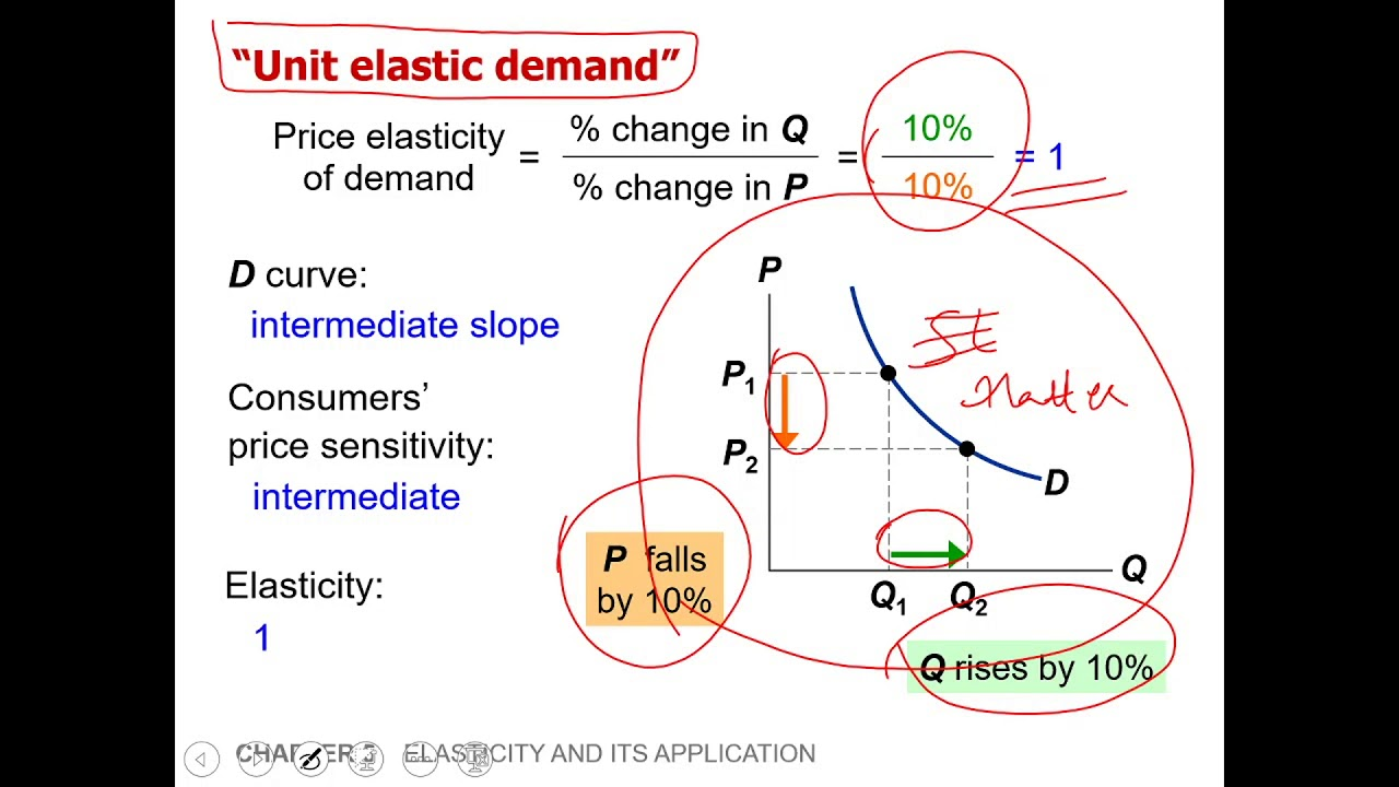 Elasticity Part 3 Elastic And Inelastic Demand Curves Youtube