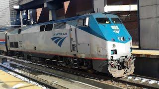 Railfanning Boston w/ Amtrak and MBTA Trains & Subways