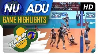 UAAP 80 WV: NU vs. AdU | Game Highlights | March 21, 2018