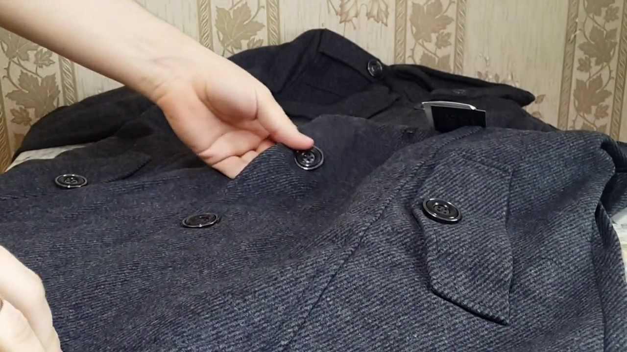 Молодежное мужское пальто с капюшоном - YouTube