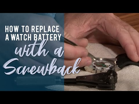 How To Replace A Watch Battery With A Screwback - JTV Jewelry Repair