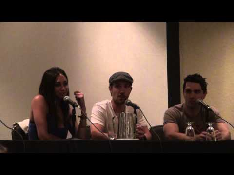 Syfy Being Human Panel Monster Mania Convention Sam Witwer, Meaghan Rath, Sam Huntington