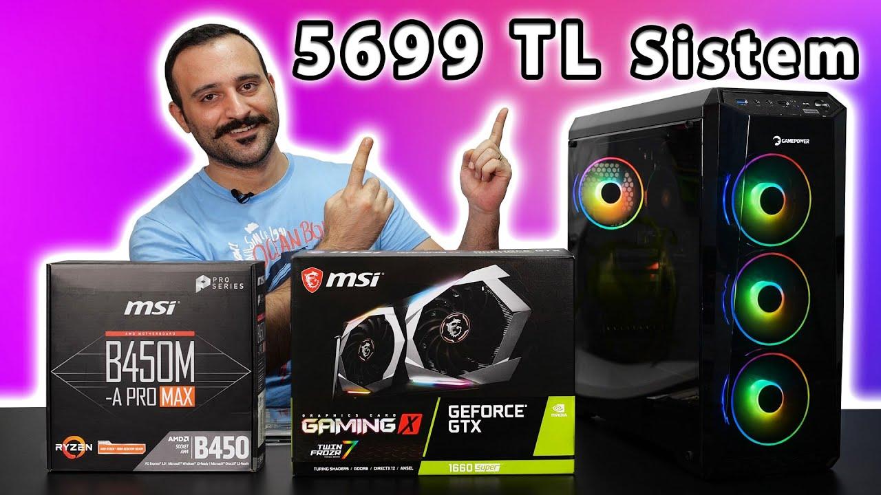 5699 TL Bütçe İle GTX 1660 Süperli Oyun Bilgisayarı Topladık