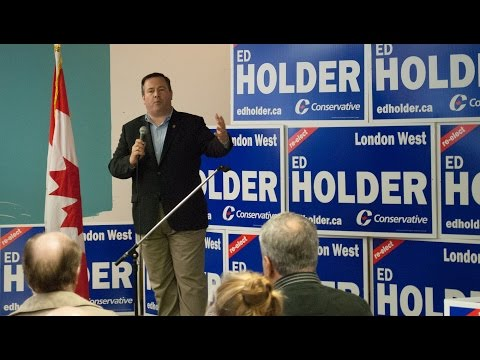 The Honourable Jason Kenney at Ed Holder Campaign Office