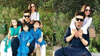 Ahsan khan with his adorable family