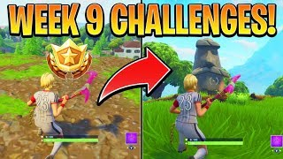 Fortnite ALL WEEK 9 CHALLENGES GUIDE! – STONE HEADS Locations, Treasure MAP (Battle Royale Season 5)